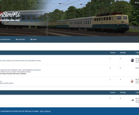 BahnSim4u.de: Eine neue Plattform mit phpBB Basis
