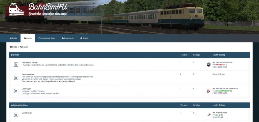 Das EEP-Depot.de: Eine neue Plattform mit phpBB Basis